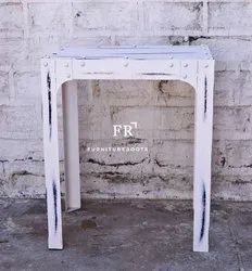 Distressed White Cafe Table