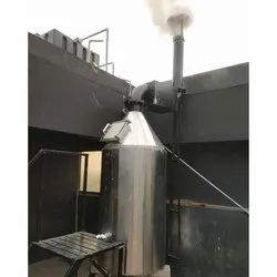 Stainless Steel Industrial Solid Waste Incinerator, Burning Ability: 200 kg/Time