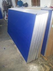 Wall Mounted Softboard Core Blue Notice Board, Frame Material: Acrylic