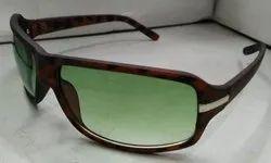 Brown Casual Wear Biker Sunglasses