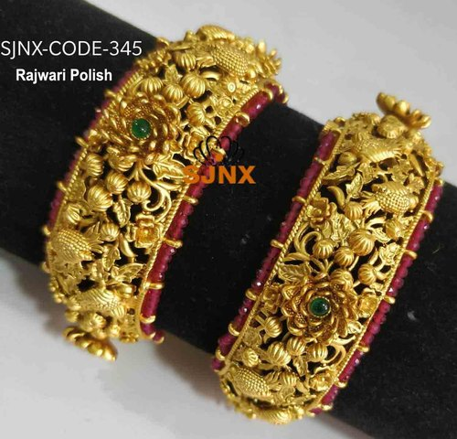Wedding Golden Traditional Gold Look Bangles For Jewelry Rs 2200