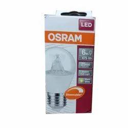 6w Osram Led Bulb, For Home, Base Type: B22