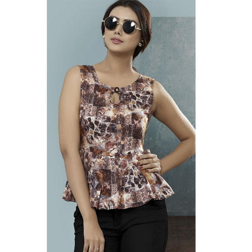 a02cb14558a Syasii Cotton Printed Short Top