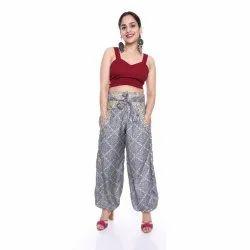 JaipurOnlineShop Plazzo Pant Yoga Pants Recycled Indian Saree Pants, Age: Adults