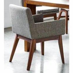 Teak Wood Grey Dining Chair
