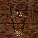 Daily Wear Antique Fusion Mangalsutra Set With Gold Plating 200262