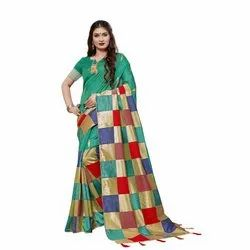 263 Fancy Handloom Silk Saree