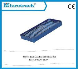 Small Long Plastic Sterilization Tray With Silicon Mat