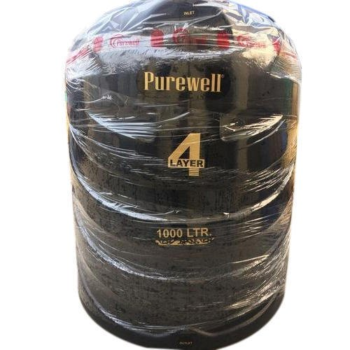 HDPE Four Layer Purewell Water Tank, Capacity: 1000 L