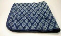 Hand Block Printed Cotton Baby Quilt Handmade Baby Blanket