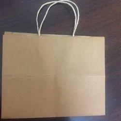 Rectangular Plain Brown Paper Carry Bag, Capacity: 3.5 kg