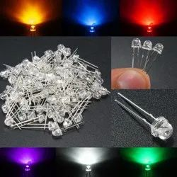 LED 5mm Clear - Dome Type - Red / Green / Yellow / Blue / White