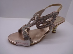Ladies Fancy Low Heel Sandals