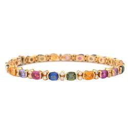 Multi Color Gemstone Bangle