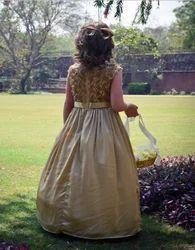 Gold Flower Girl's Dress