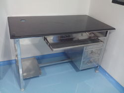 Superieur Stainless Steel Computer Table