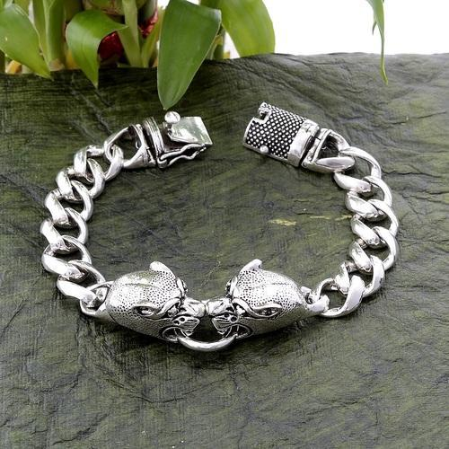Krishna Jewels 92 5 Percent Pure Silver Bracelet