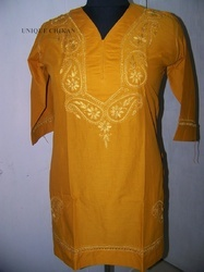 Embroidered Organic Silk Fashion Clothing, For Garments, Size: Medium