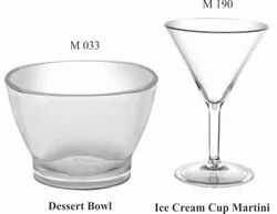 Desert Bowl And Ice Cream Martini