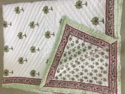 Handblock Printed Reversible Cotton Quilt