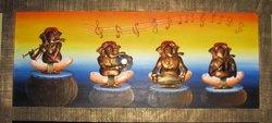 Ganesh Musician Metal Mural Painting, Warranty: 3 Year