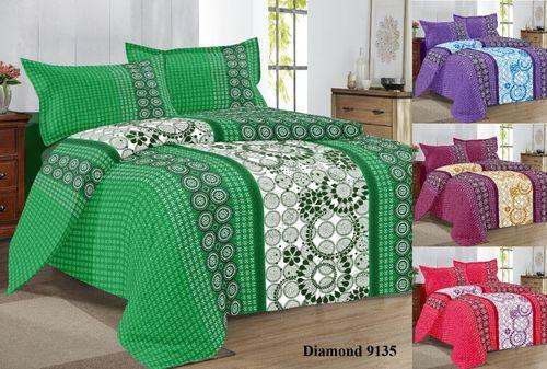Captivating Printed Cotton Double Bed Sheet With Book Fold Packing