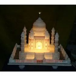 Beautiful Marble Taj Mahal Replica with Lighting