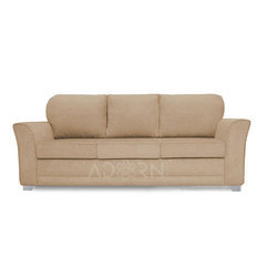 Adorn India Alexia 3 Seater Sofa (Beige)