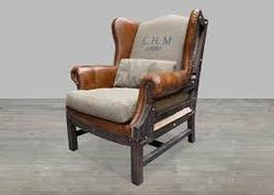 Calf Leather Printed Chair
