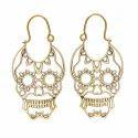 Cocktail Designing Trendy Hot Model Brass Earring