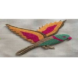 Parrot Shape Beaded Patch