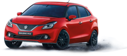 Premium Silver and Ray Blue Maruti Suzuki Baleno RS Car
