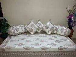 Printed Diwan Bed Sheet