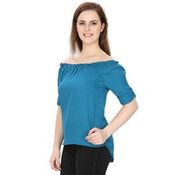 Ladies Plain Off Shoulder Top