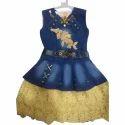 Girls Denim Kids Skirt And Top