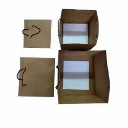 Brown Cake Paper Bag, For Birthday, Capacity: 1kg
