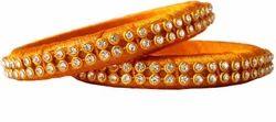 Golden Silk Thread Bangle Set