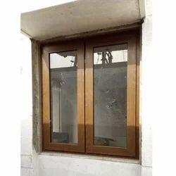 Brown PVC Outdoor Swing Window