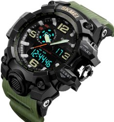 9a938b0d6 Skmei Black Round DIal Analog-Digital Watch For Boys And Men Watch-1155  Green