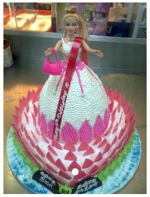 ABPB017 Pinky Barbie Cake, Birthday Cake, केक - Pettishop E- Commerce,  Tirunelveli   ID: 19530218873