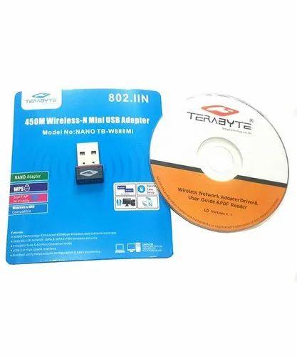 Terabyte Usb Nano Mini Wireless 450 Mbps Wifi Adapter Dongle (black)
