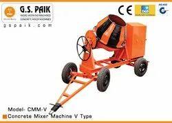 8 Hp Diesel Engine Concrete Mixer Machine V Type, Model Number: Cmm-v