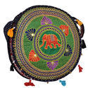 Zaributi Multicolor Navy Blue Color Embroidered Evening Sling Bags