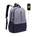 Usb Canvas Backpack Laptop Bag
