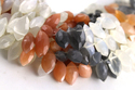 Multi Moonstone Faceted Stone Beads
