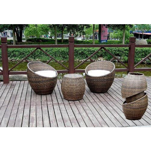 Round Outdoor Wicker Chairs Rs 12000 Set Outdoor Hub Id 4749429297