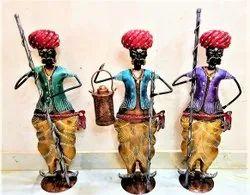 Black Unique Brass antique Chokidar Set, For Decoration