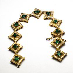 Emerald Silver Bracelet
