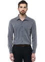 Grey Cotton Slim Fit Casual Shirt, Size: 38