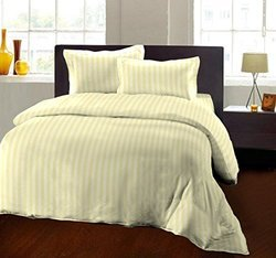 Satin Striped Double Bedsheet